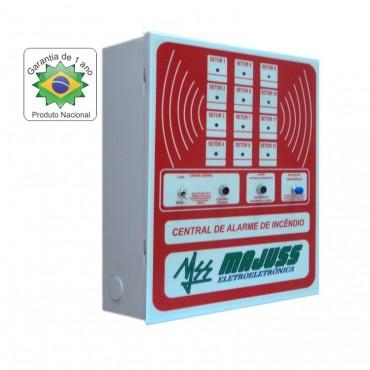 Central de Alarme de Incêndio de 12 setores 12Vdc