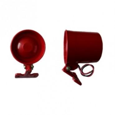 Mini Sirene 12Vdc Vermelha