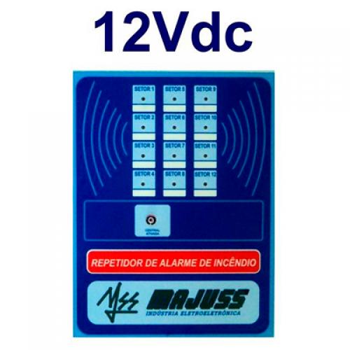 Repetidora para Central de Alarme 12 setores 12Vdc
