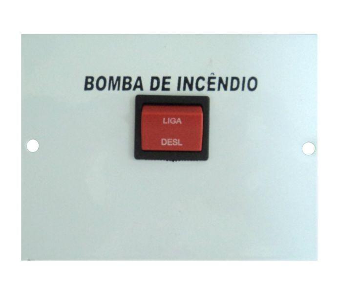 Placa para Botoeira de bomba de incêndio 1 Chave