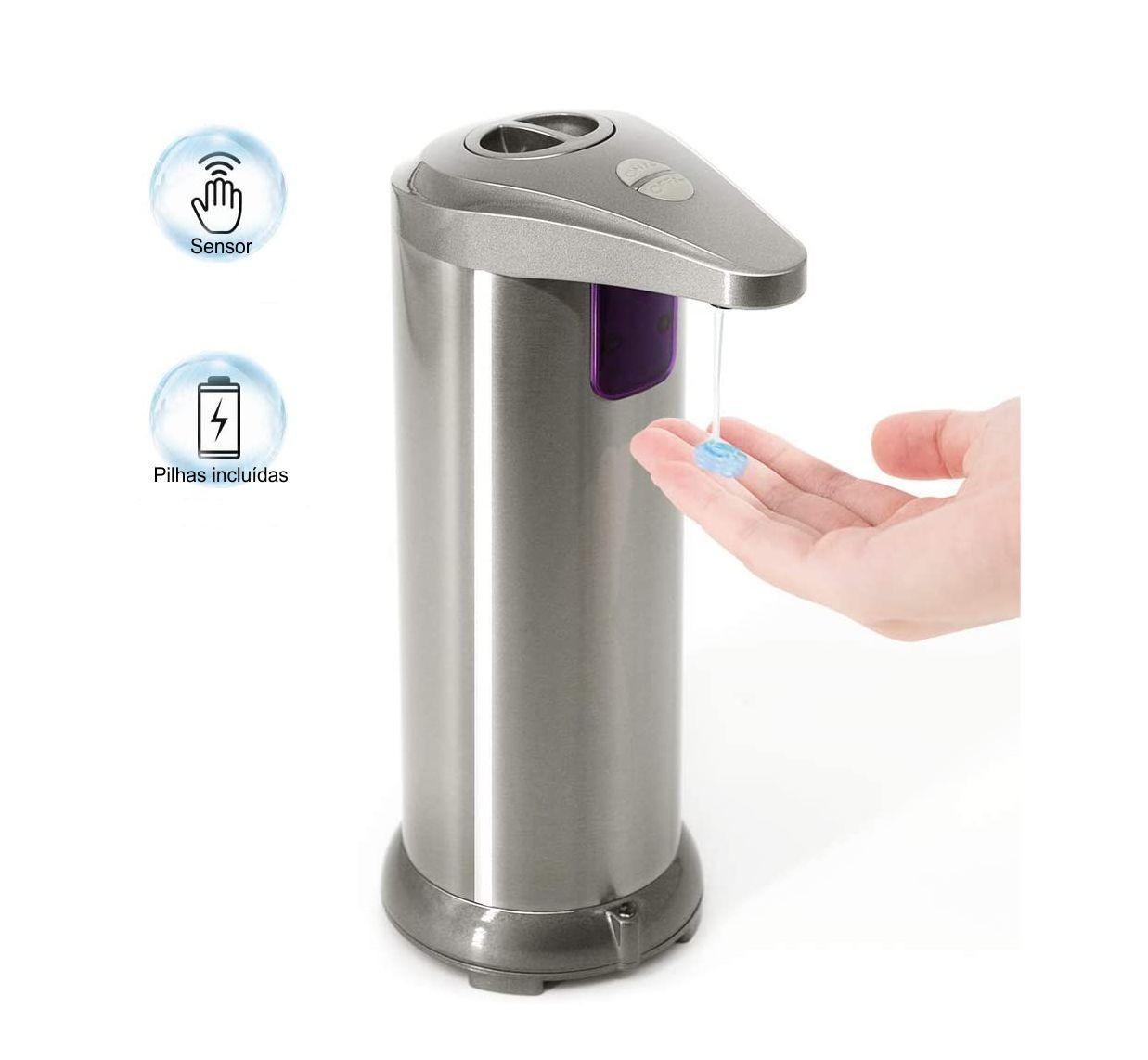 Saboneteira Automática Inox 250ml com Sensor