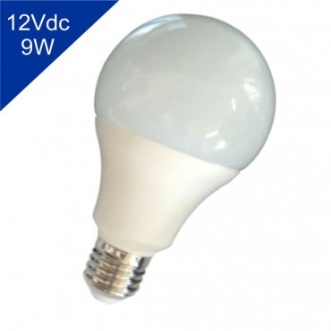 Lâmpada de Led Bulbo 12Vdc 9W