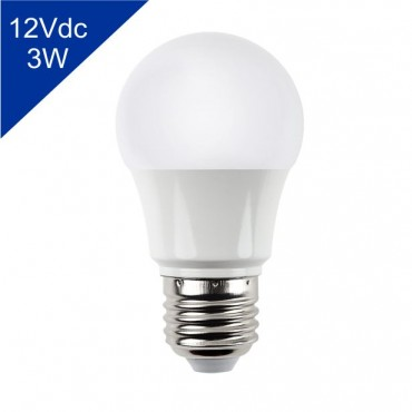 Lâmpada de Led Bulbo 12Vdc 3W