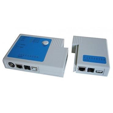Testador de Cabos RJ11 RJ45 BNC USB