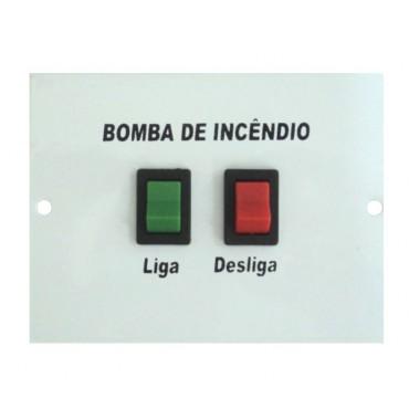 Placa para Botoeira de bomba de incêndio 2 Chaves