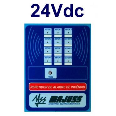 Repetidora para Central de Alarme 12 setores 24Vdc