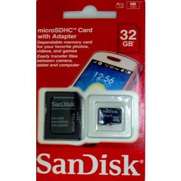 Cartão de Memória Micro SD de 32GB com Adaptador