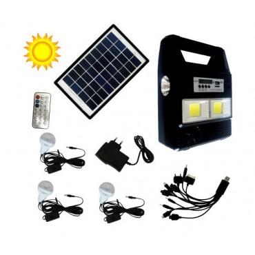 Kit Solar de Emergência com Leds e Rádio