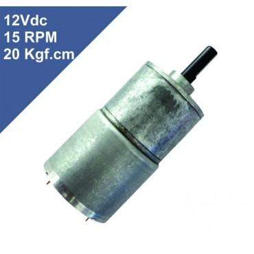 Motor Dc 12V com Redução 15 RPM 20 Kgf.cm