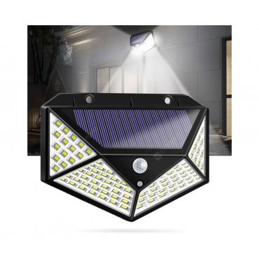 Luminária Solar 100 Leds com Sensor de Presença e Fotocélula
