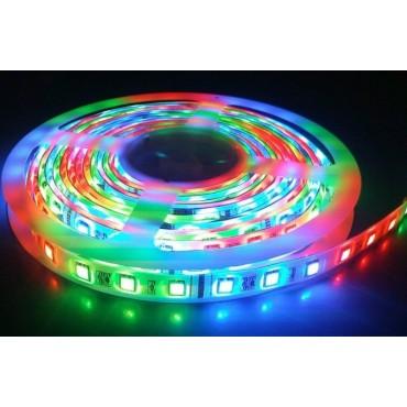 Fita de Led SMD 5050 RGB com Fonte e Controle