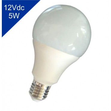 Lâmpada de Led Bulbo 12Vdc 5W