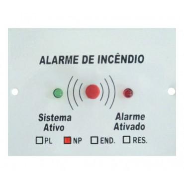 Placa para Botoeira de alarme de incêndio não polarizada