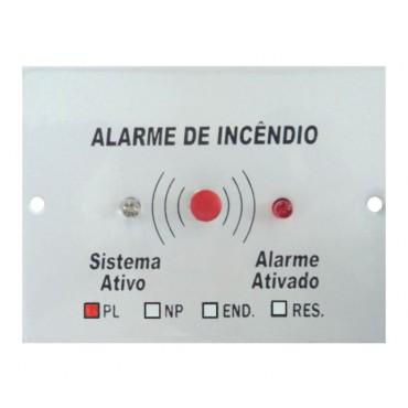Placa para Botoeira de alarme de incêndio polarizada